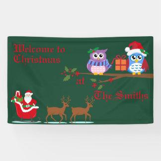 Personalisiertes Willkommen zur Weihnachtsfahne Banner