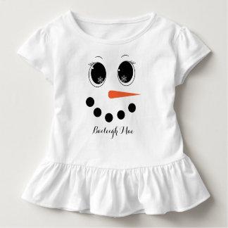 Personalisiertes Winter Snowgirl Kleinkind T-shirt
