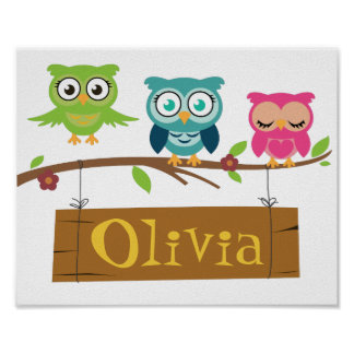 Personalisiertes Zeichen für Kinder Poster