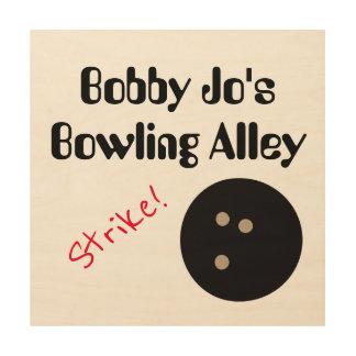 "Personalizable Bowlings-Gassen-""Streik! ""mit Ball Holzdruck"