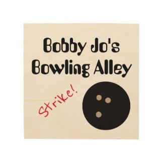 "Personalizable Bowlings-Gassen-""Streik! ""mit Ball Holzdrucke"