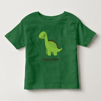 Personalizable niedlicher grüner Dinosaurier Kleinkinder T-shirt