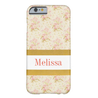 Personalizable rosa Blumenmuster iPhone Fall Barely There iPhone 6 Hülle