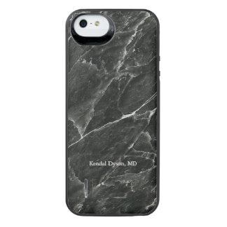 Personalized Black Marble Doktors iPhone SE/5/5s Batterie Hülle