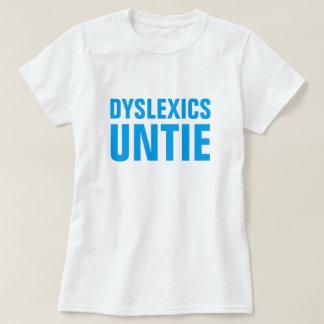 Personen mit Lesestörung lösen sich T-Shirt