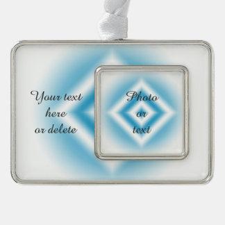 Personifizieren-Himmel blaue Diamantsteigung Rahmen-Ornament Silber