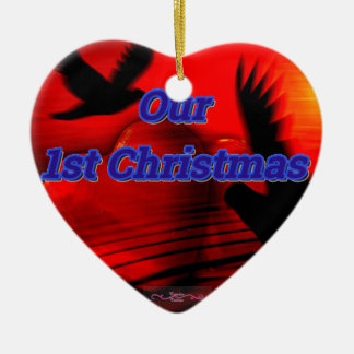 Personifizieren Sie 1. Weihnachtsherz-Verzierung Keramik Ornament
