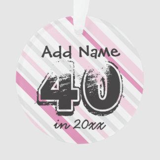 Personifizieren Sie 40. Geburtstag ROSA Ornament