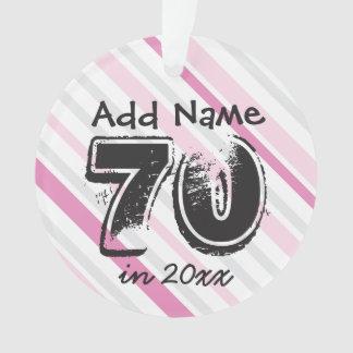 Personifizieren Sie 70. Geburtstag ROSA Ornament