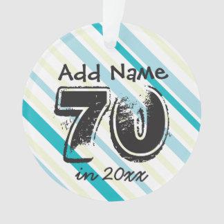 Personifizieren Sie 70. Geburtstags-blaues Grün Ornament