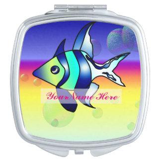 Personifizieren Sie Angelfish-kompakten Spiegel Schminkspiegel