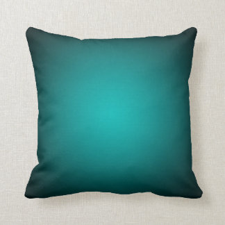 Personifizieren Sie - aquamarinen ombre Kissen
