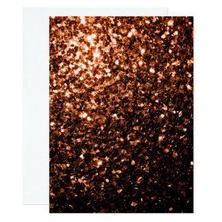 Personifizieren Sie BronzeGlitter-Glitzern 14 X 19,5 Cm Einladungskarte