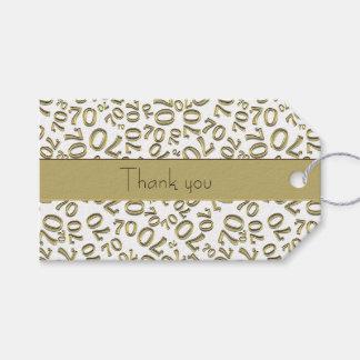 """Personifizieren Sie:  """"Danke"""" 70. Geschenkanhänger"""