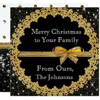 Personifizieren Sie dieses Gold und schwarze Quadratische 13,3 Cm Einladungskarte