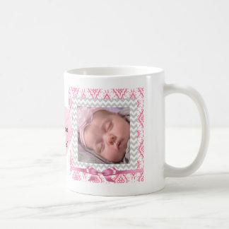 Personifizieren Sie dieses niedliche rosa gerahmte Kaffeetasse