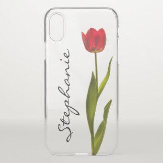 Personifizieren Sie:  Eine rote iPhone X Hülle