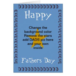 Personifizieren Sie einen Vatertag Karte