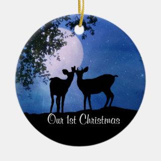 Personifizieren Sie erste Weihnachtszusammen Keramik Ornament