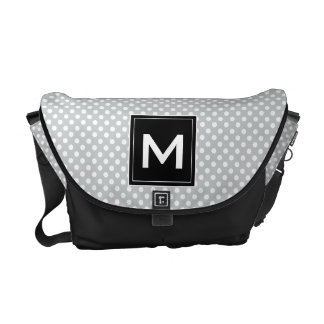 Personifizieren Sie moderne Monogramm-Tupfen u. Kurier Taschen