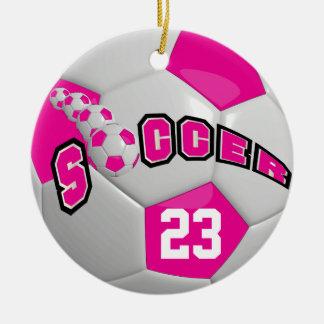 Personifizieren Sie Pink des Fußball-| Keramik Ornament