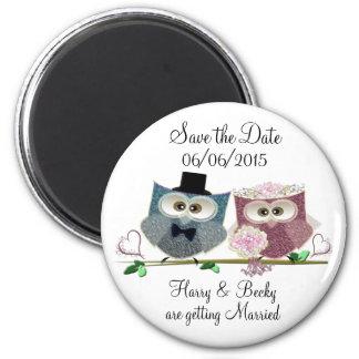 Personifizieren Sie Save the Date Wedding Magneten Runder Magnet 5,1 Cm