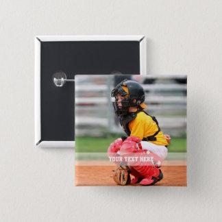 Personifizieren Sie Sport-Foto Quadratischer Button 5,1 Cm