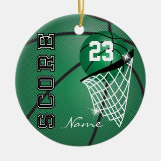 Personifizieren Sie Superstar-Basketball Rundes Keramik Ornament