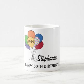 Personifizieren Sie unsere 50. Geburtstags-Ballon- Teehaferl