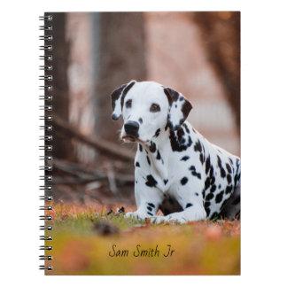 Personifizierter dalmatinischer Hund Notizblock