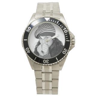 Persönliche Foto-Schablonen-Armbanduhr Uhr
