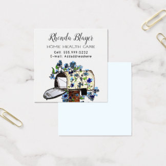Persönliche Geschäfts-Werbeschilder von zuhause Quadratische Visitenkarte