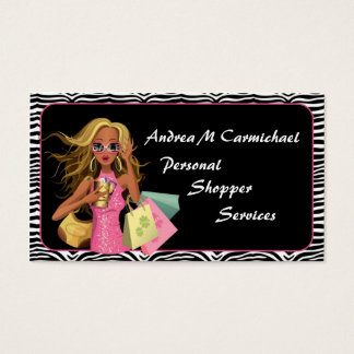 Persönliche Käuferzebra-Druck-Visitenkarte Visitenkarte