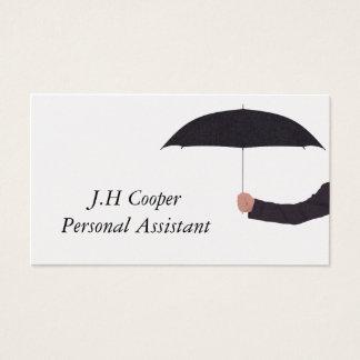 Persönlicher Assistenten-Regenschirm Visitenkarte
