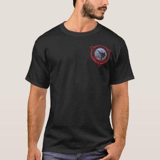 Persönlicher Leistungs-Kriegskunst-schwarzer T - T-Shirt