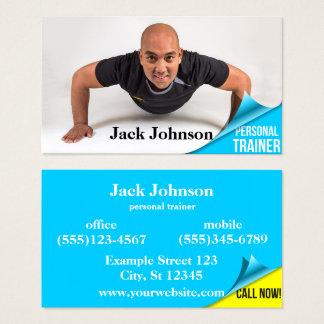 Persönlicher Trainer - Seiten-Locke - Visitenkarte