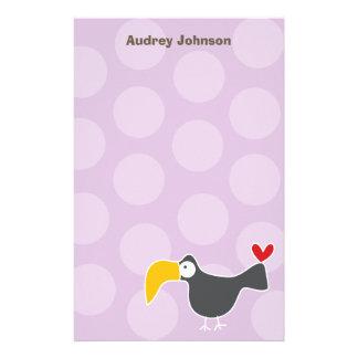 Persönliches Cartoon Toucan Kind/danken Ihnen Briefpapier