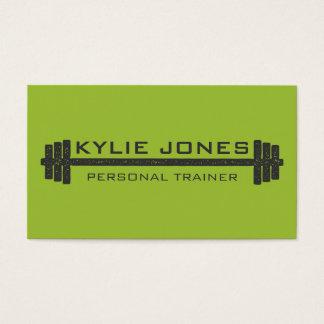 Persönliches Trainer-Fitness Barbellgewicht Visitenkarten