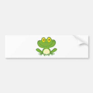 Personnage de dessin animé mignon de grenouille autocollant pour voiture