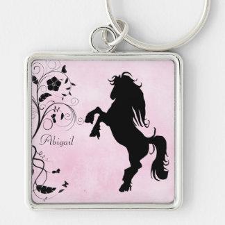 Personnalisé élevant le cheval Keychain Porte-clef