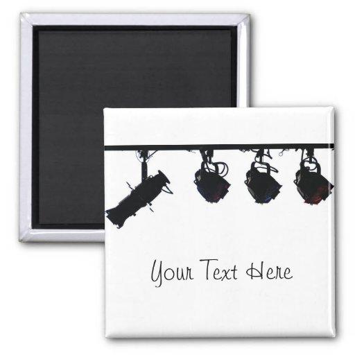 PERSONNALISEZ - les silhouettes noires de lumière  Magnets Pour Réfrigérateur