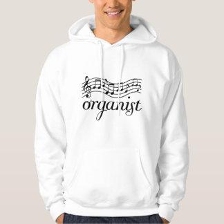 Personnel de musical d'organiste veste à capuche