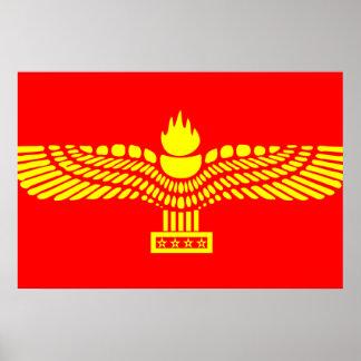 Personnes Aramaic de Syriac, drapeau de la Syrie Posters