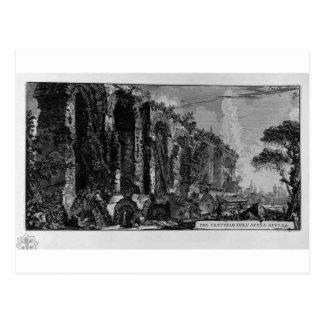 Perspektive der Ruinen des Aquädukts Giovanni Postkarte