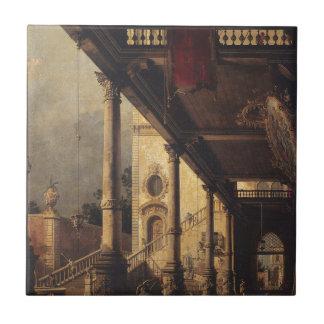 Perspektive mit einem Portico durch Canaletto Keramikfliese