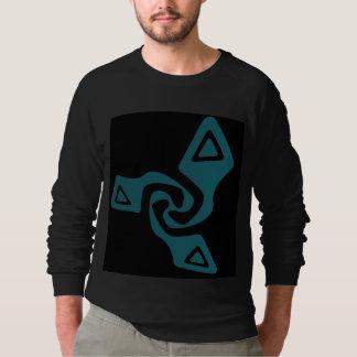 Perspektive Tri Pfeile (aquamarin und schwarz) Sweatshirt