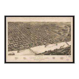 Perspektiven-Karte von Little Rock, Arkansas Leinwanddruck