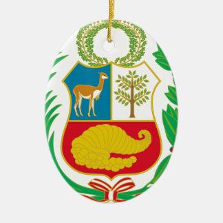 Peru - Escudo Nacional (nationales Emblem) Ovales Keramik Ornament