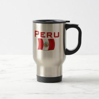Peru-Flagge Reisebecher