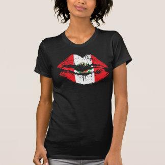 Peru-Lippent-shirt Entwurf für Frauen Hemd